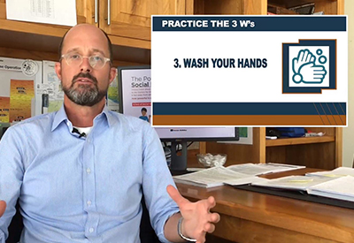 Practice the 3 W's: Wear a Mask, Watch your Distance, Wash your Hands – Video