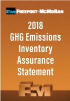 2018 GHG Emissions Inventory Assurance Statement